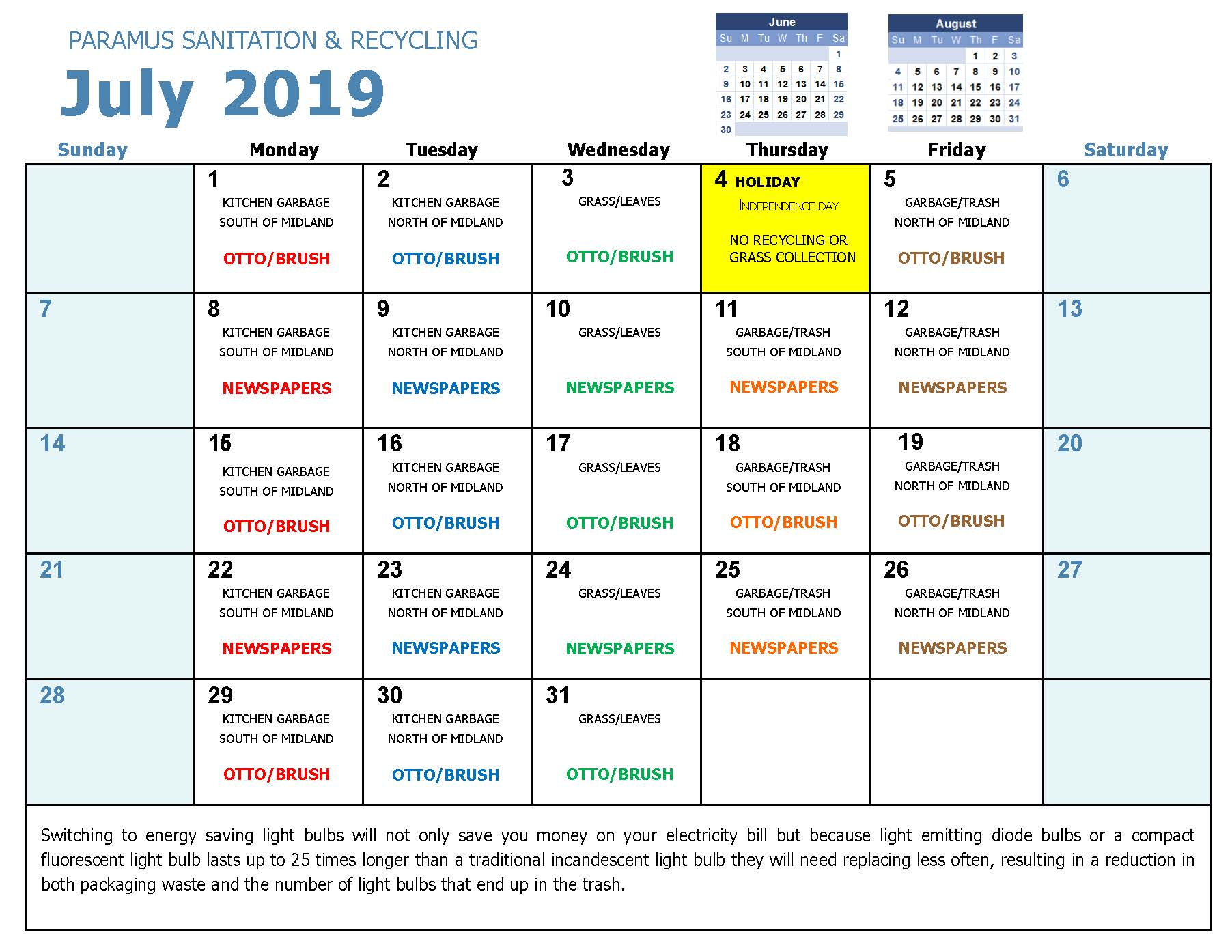 2019 July Household Hazadous Waste Collection