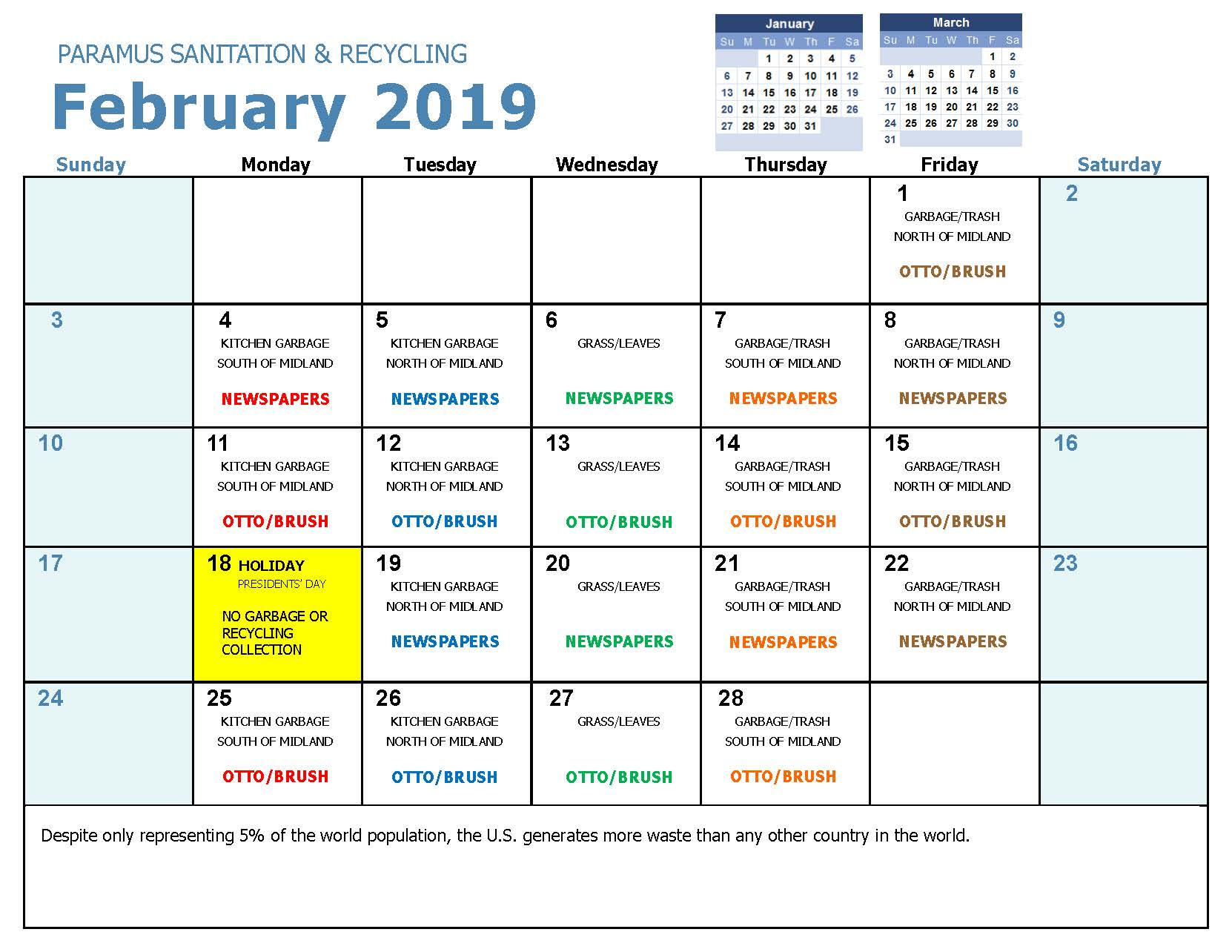 2019 February Household Hazadous Waste Collection