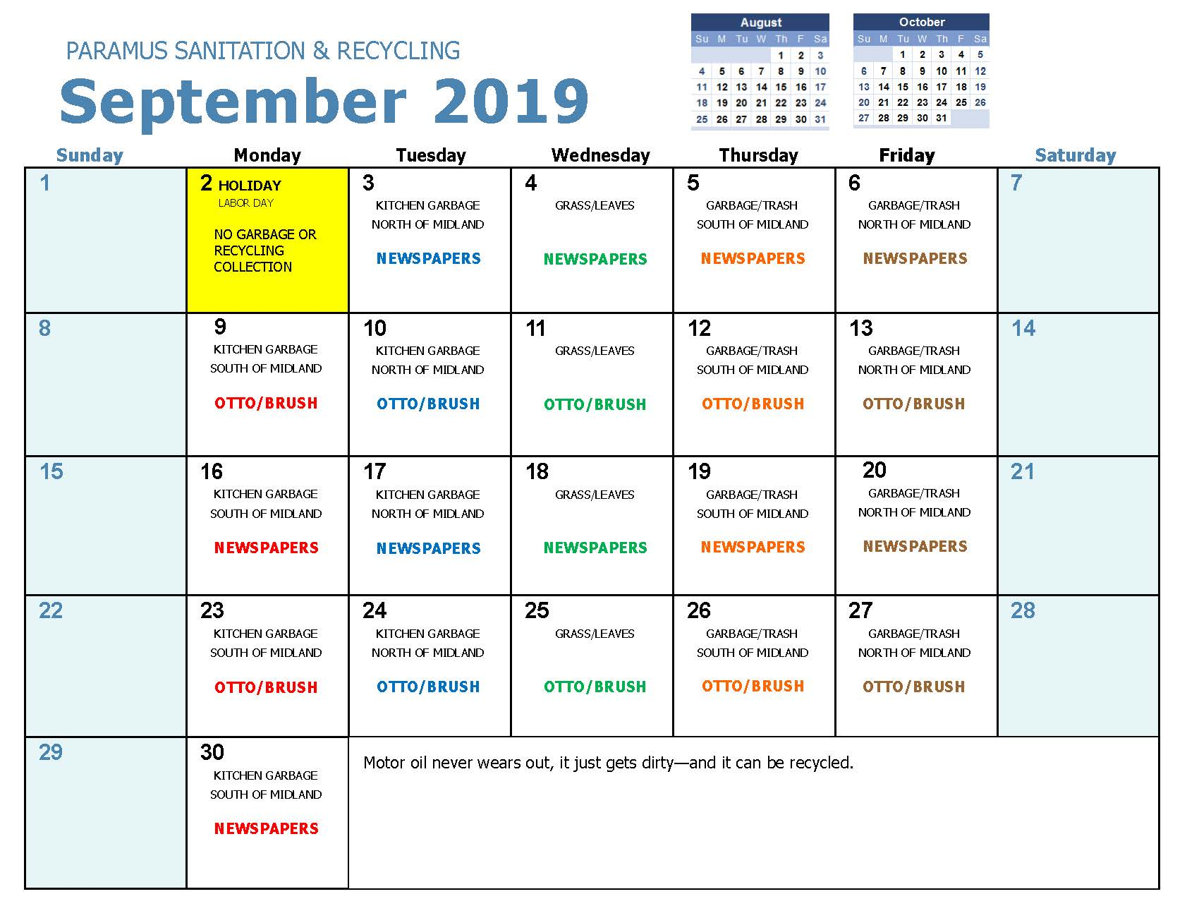 2019 September Household Hazadous Waste Collection
