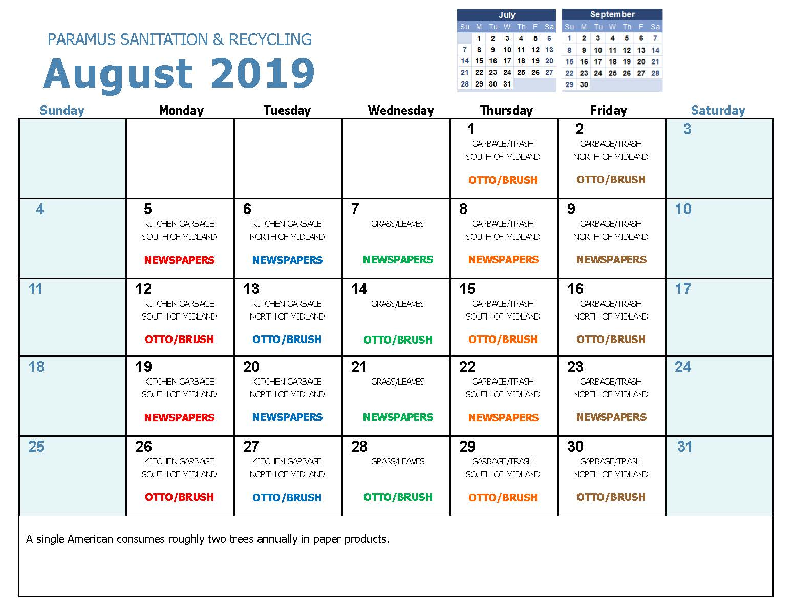 2019 August Household Hazadous Waste Collection