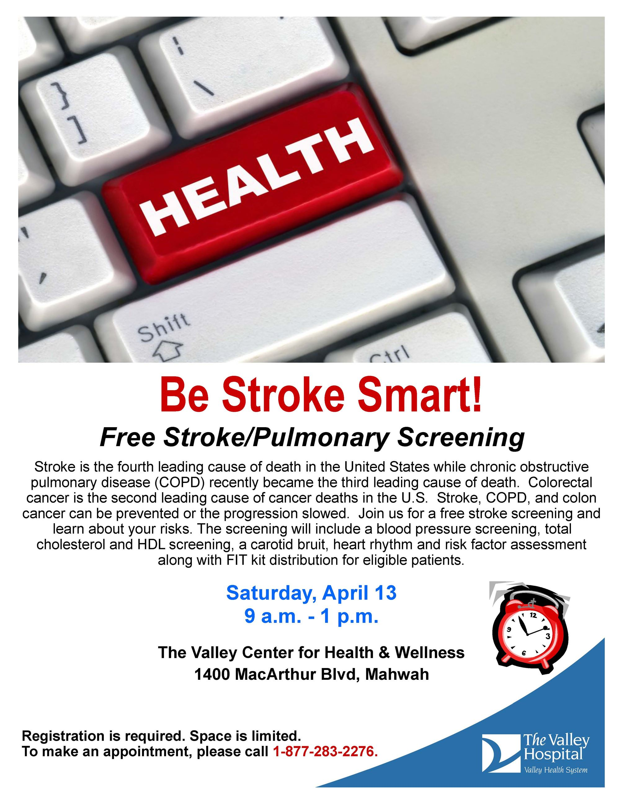Valley free community stroke screening