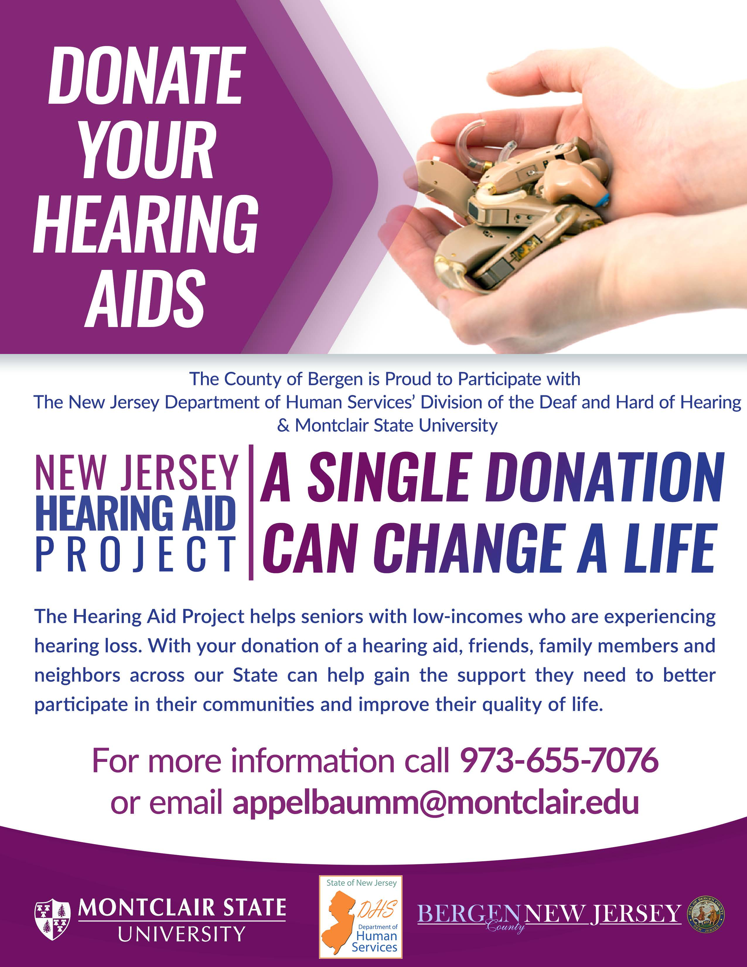 Bergen County NJ Hearing Aid Drive
