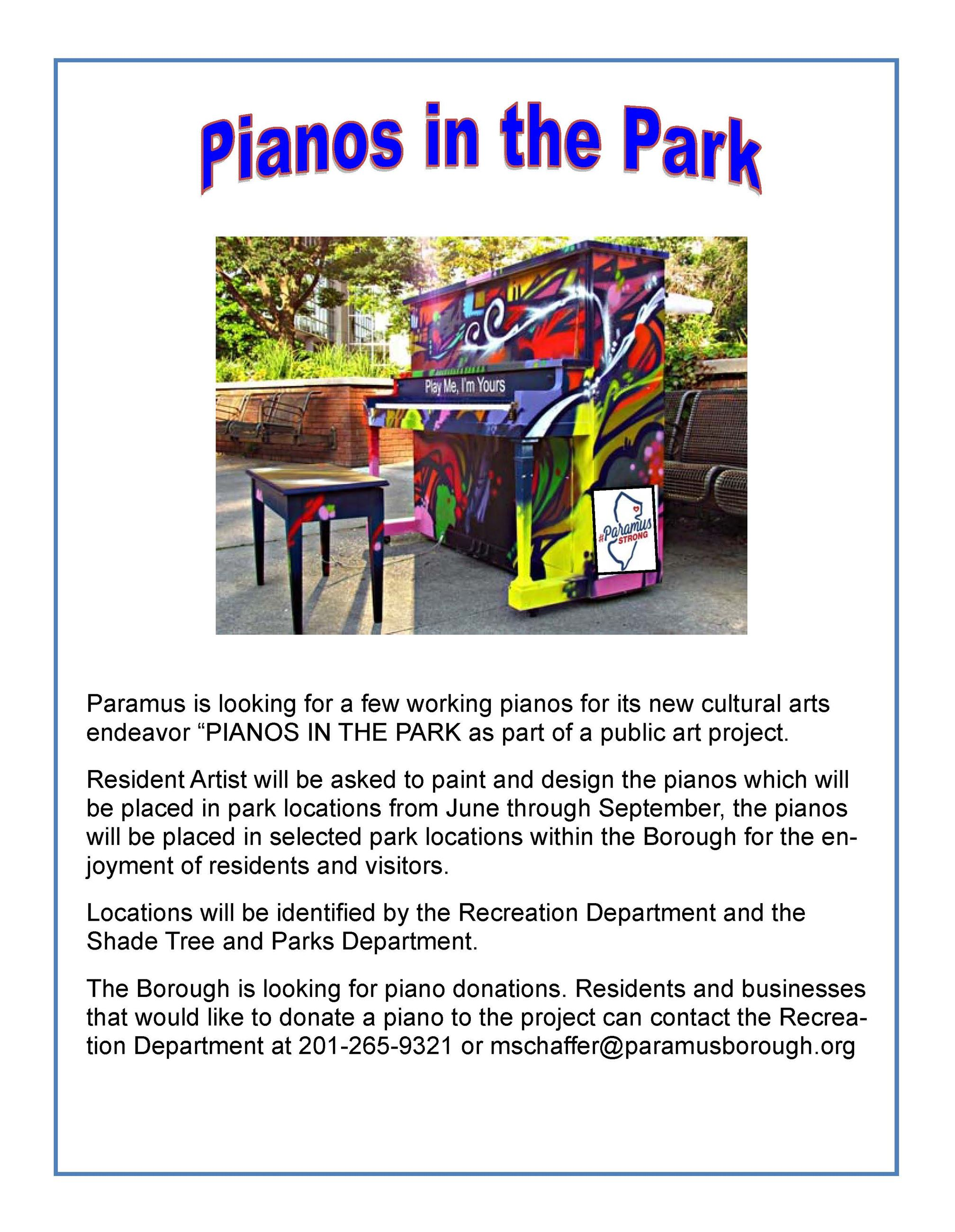 2019 Pianos In The Park