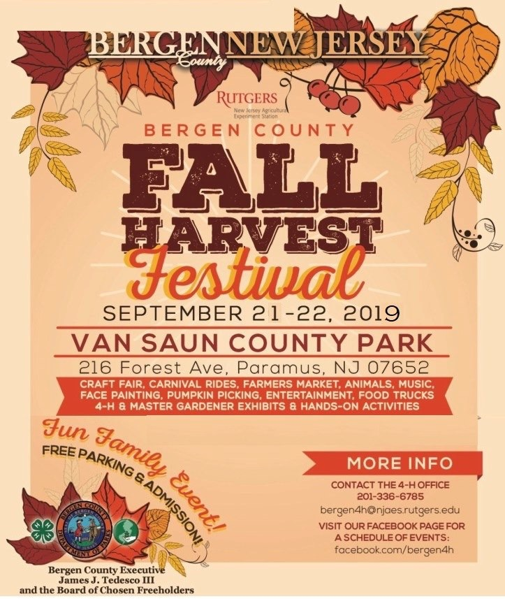 2019 Bergen County Fall Harvest Festival Flyer