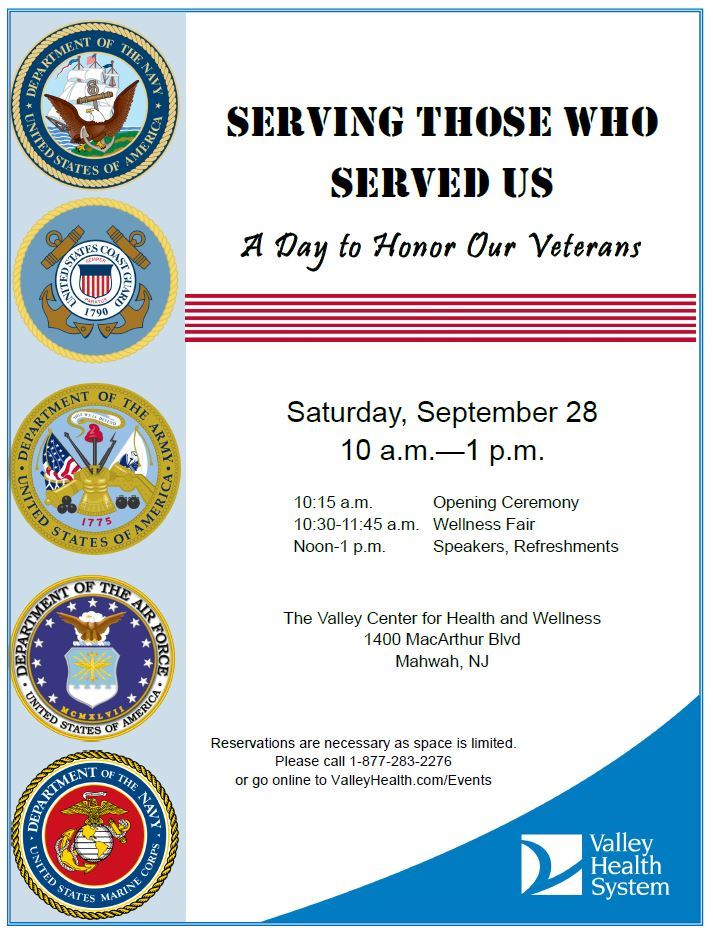 Serving Those Who Served Us - A Day  to Honor Our Veterans