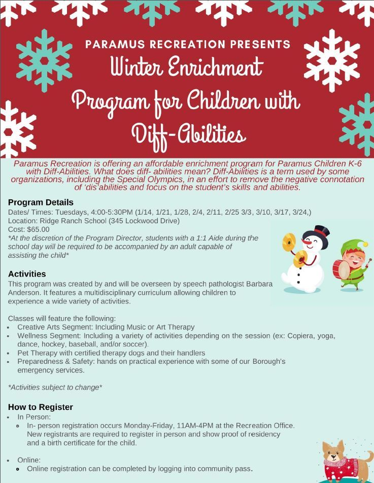 Winter Enrichment Program for Children with DiffAbilities
