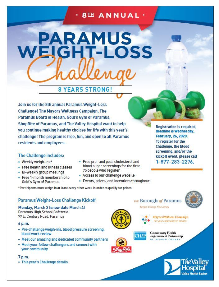 Weight Loss Challenge Poster