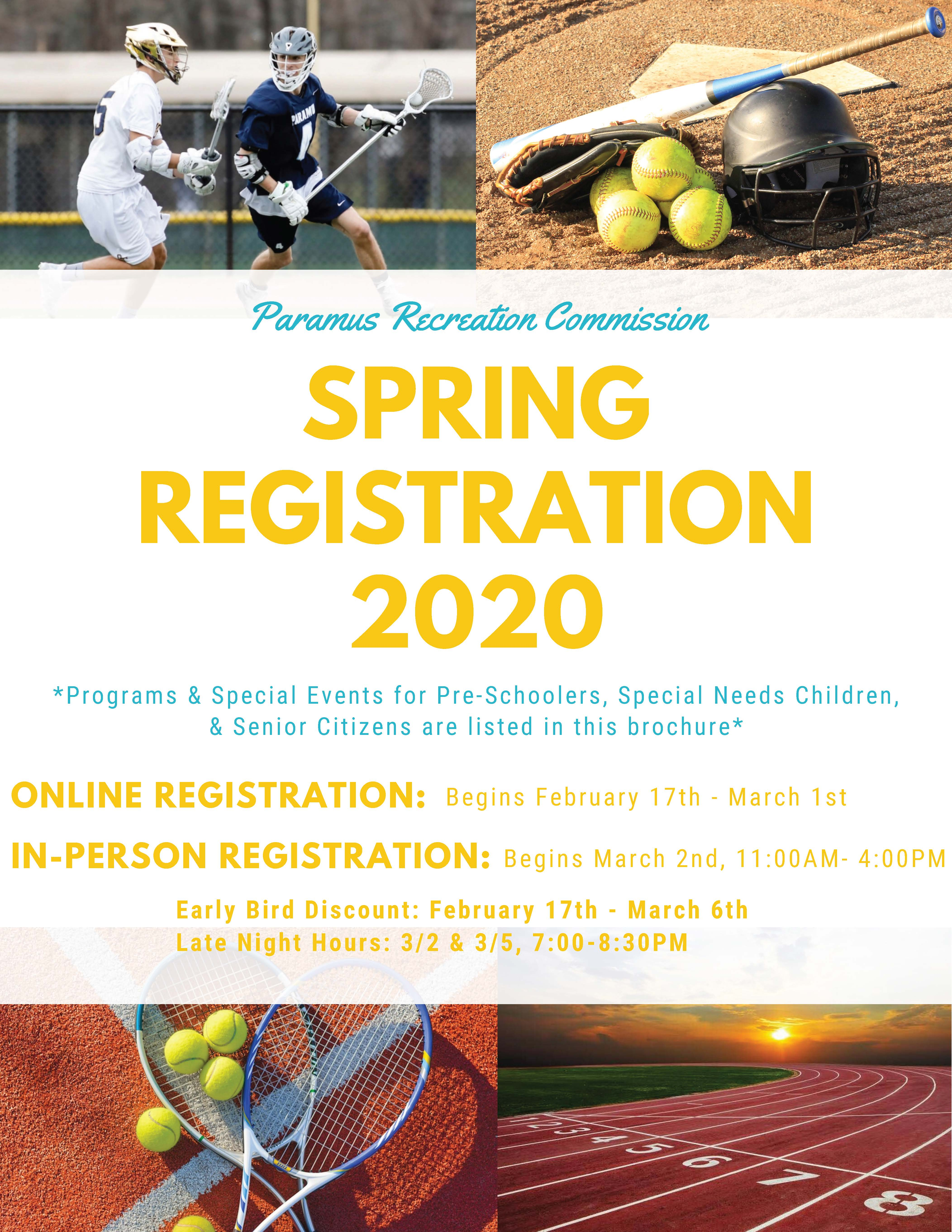 Paramus Recreation Spring 2020 Brochure
