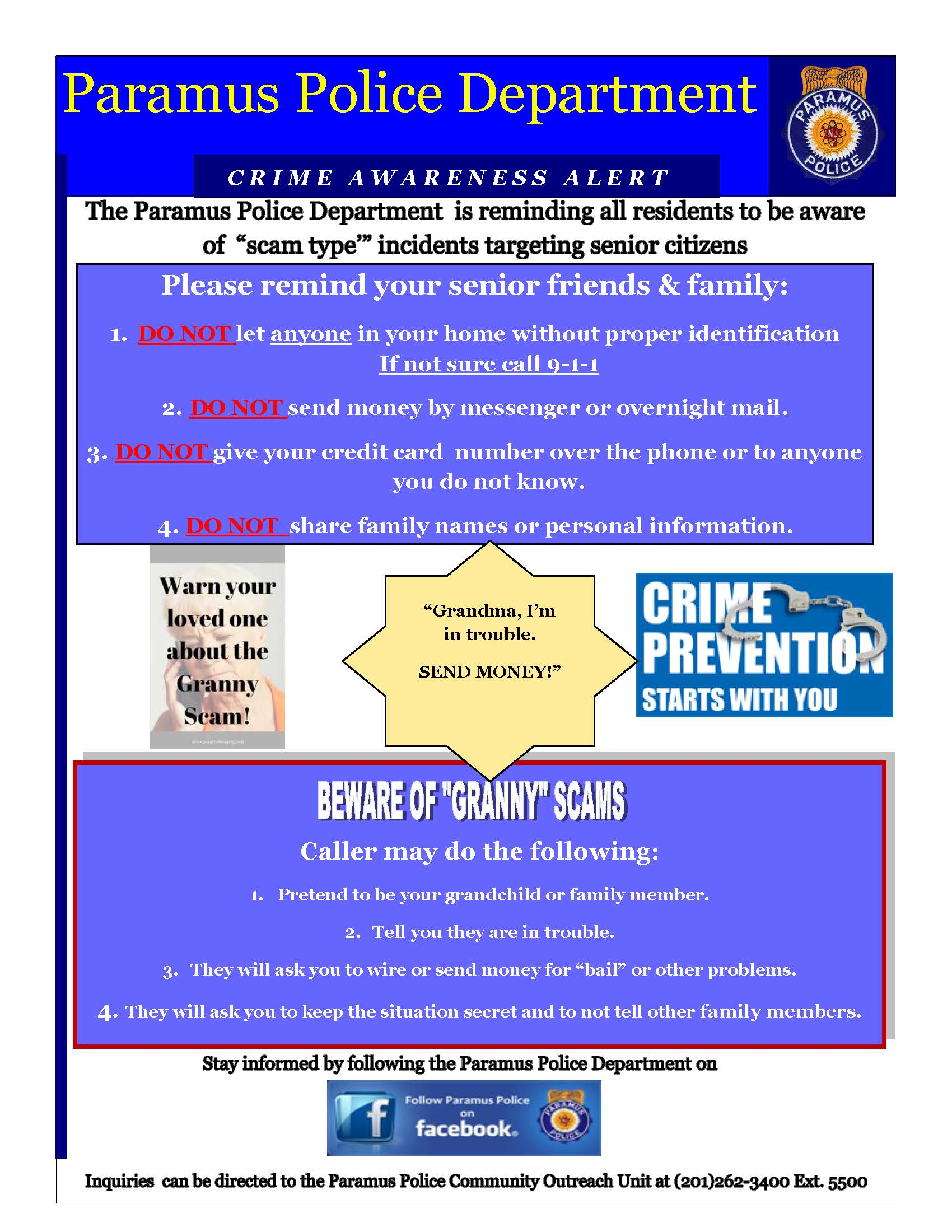 Publication  Crime awareness alert  Granny Scams 042920