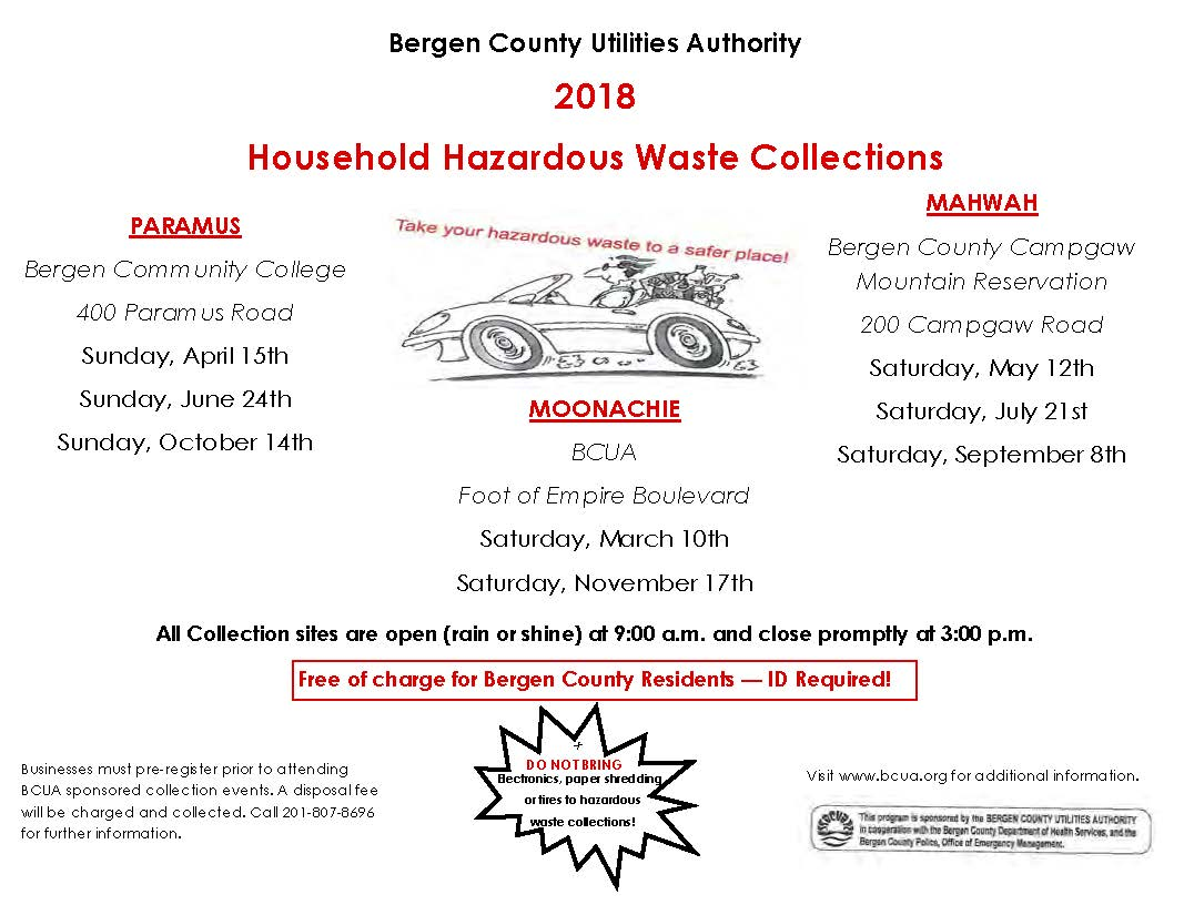 2018 Household Hazardous Waste Collections