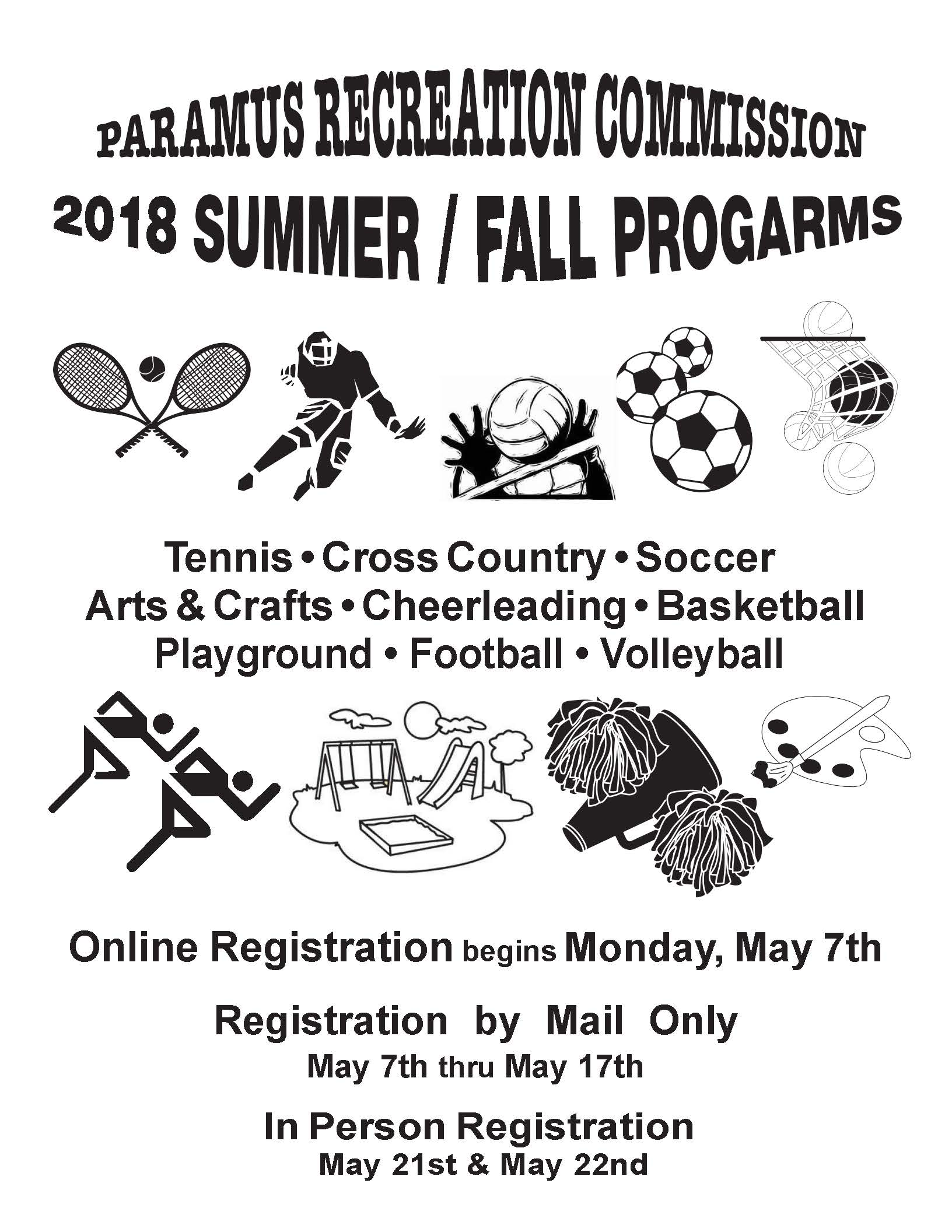 2018 Paramus Recreation Summer Fall Program Info Packet_Page_01