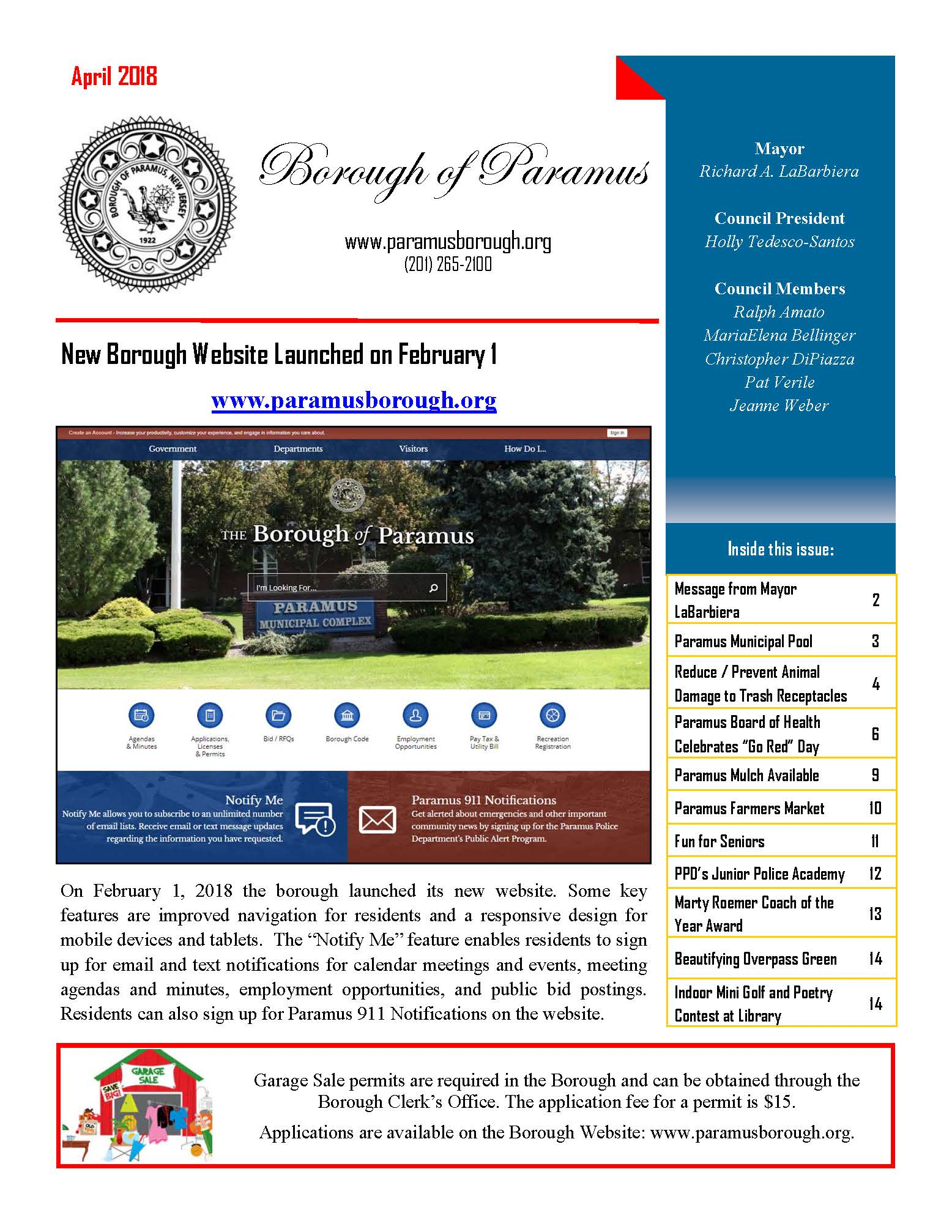 2018 April Borough Newsletter