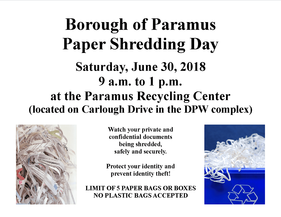 Paper Shredding Flyer 6-30-18