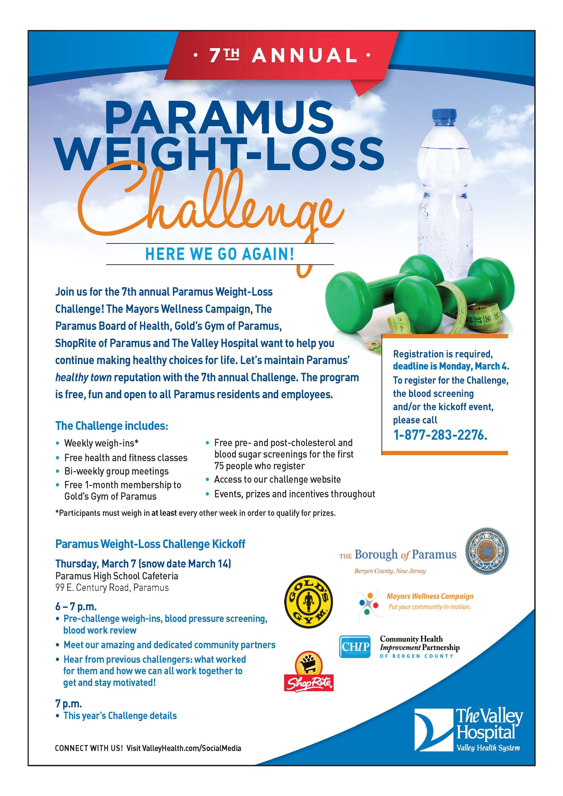 7th Paramus Weight-loss Chall Flyer