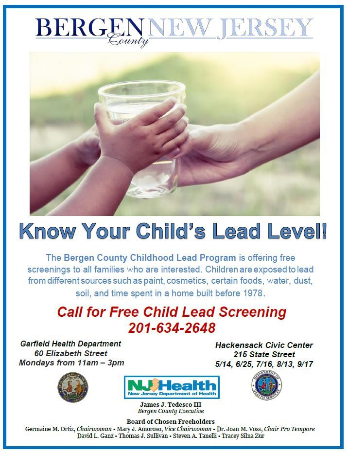 Lead Level with Dates for screening
